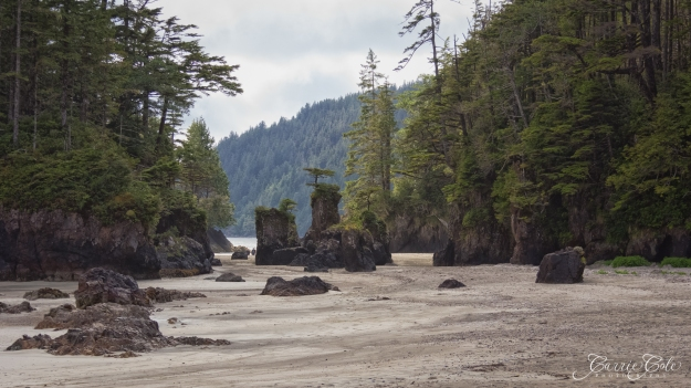 Sea Stacks point the way to second beach.