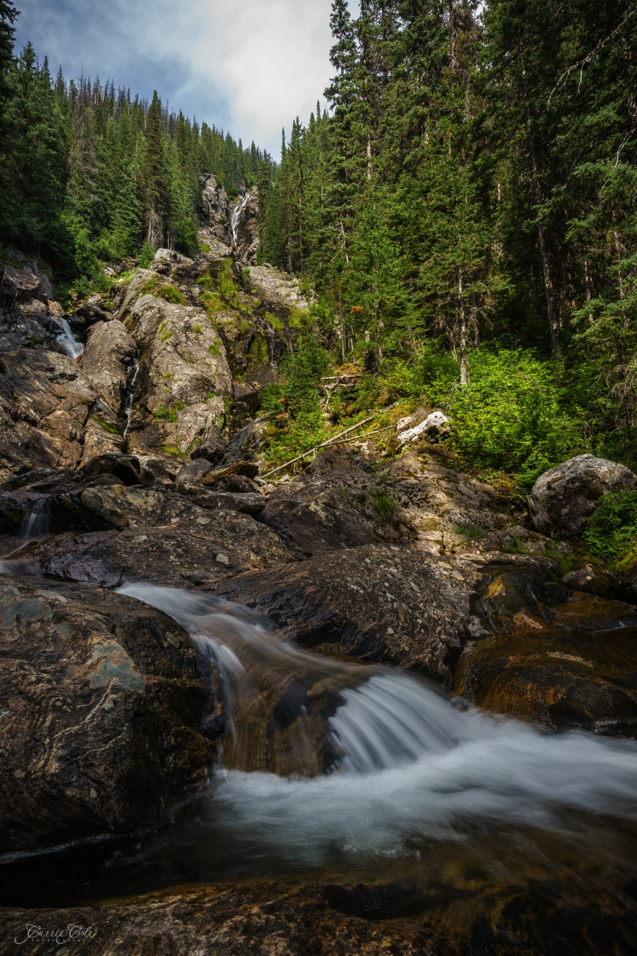 Hike to Silvertip Falls in Wells Gray Provincial Park